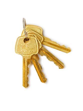 Keys isolated on the white background Stock Photo - 6993499