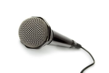 Microphone isolated on the white background photo