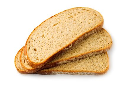 Bread slices isolated on white Stock Photo - 6993558
