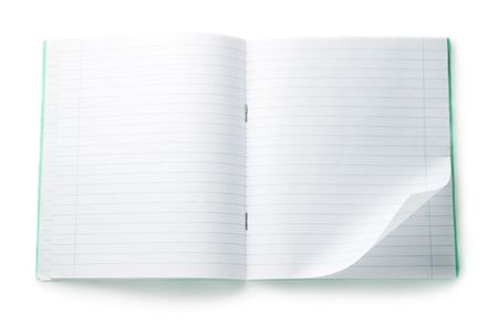 Notebook isolated on the white background photo