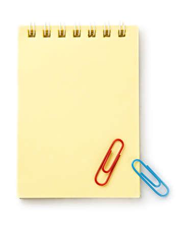 Notepad isolated on the white background photo