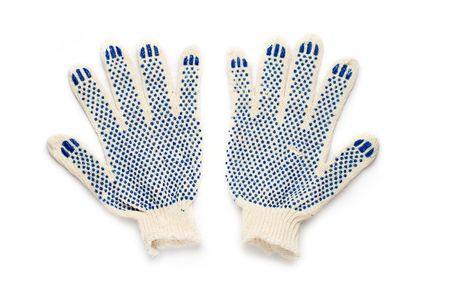 Gloves isolated on white photo