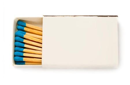 Matchbox isolated on the white background photo