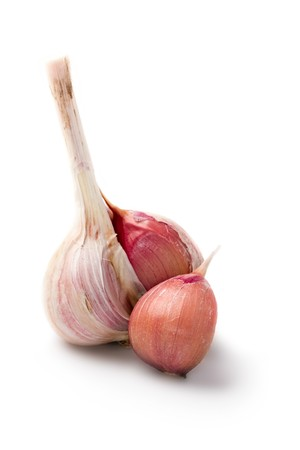 Garlic isolated on white background Stock Photo - 7834734