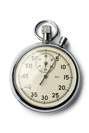 Stopwatch isolated on white Stock Photo - 8051613
