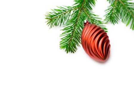 Christmas Tree Decoration isolated on white photo