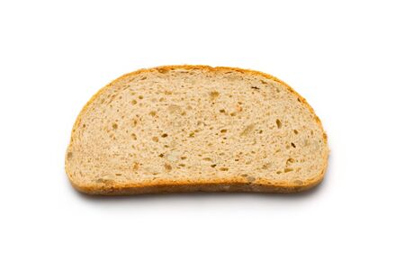 Bread slice isolated on white Stock Photo - 8051574