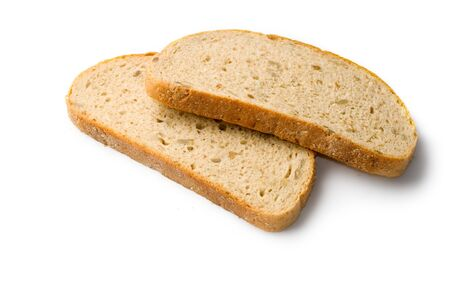Bread slice isolated on white  Stock Photo - 8051664