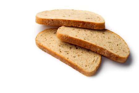 Bread slice isolated on white Stock Photo - 8051662