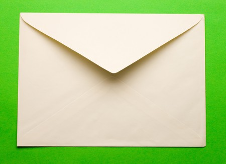 send mail: Evenlope isolated on green