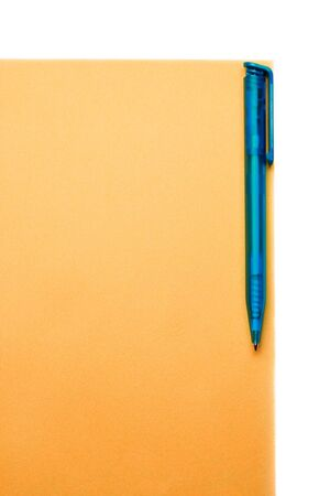 Pen on the blank paper Stock Photo - 8051563