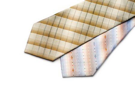 Tie isolated on white photo