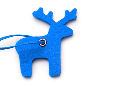 Reindeer on the white background photo