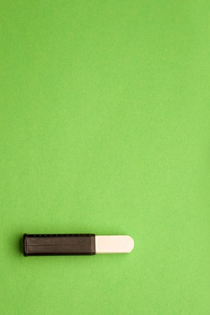 Chalk isolated on green