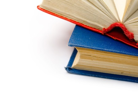 Books isolated on the white background  photo