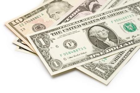 Dollars isolated on white  photo
