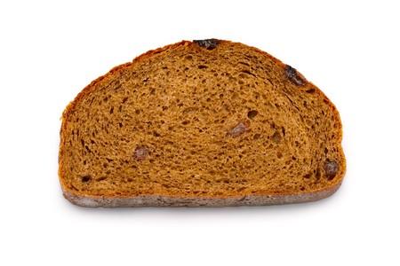 Bread slice isolated on white Stock Photo - 8213217