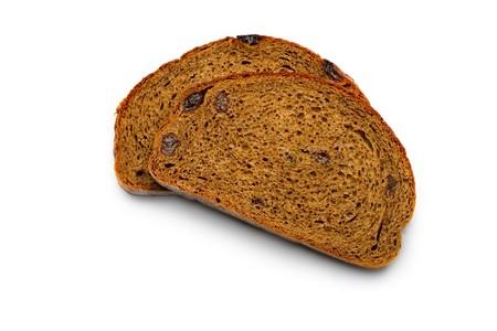 Bread slice isolated on white  Stock Photo - 8213247