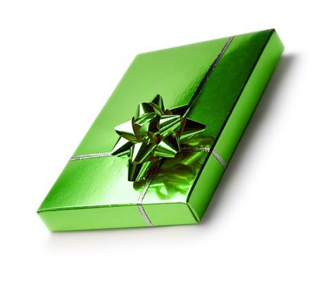 Gift box isolated on white photo