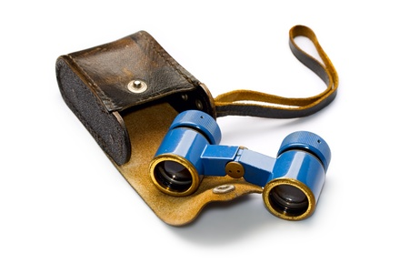 Binoculars isolated on white Stock Photo - 8292153