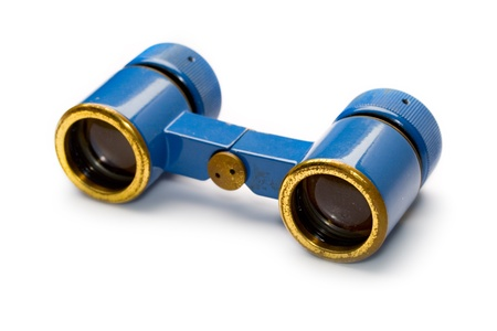 Binoculars isolated on white photo