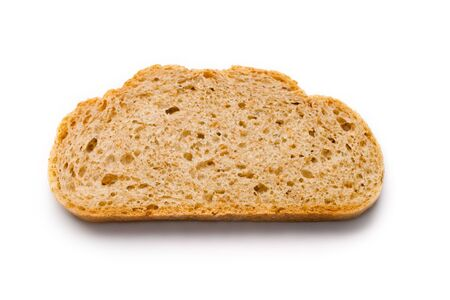 Bread slice isolated on white Stock Photo - 8292158