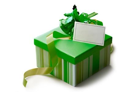 Gift box isolated on white Stock Photo - 8436111
