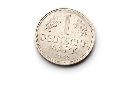 deutschemarks: Old german coin isolated on white background