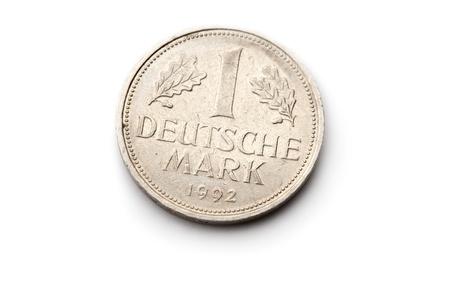 deutschemarks: Old german coin isolated on white background