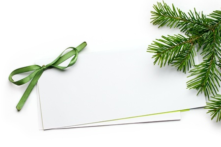 Greeting card isolated on white photo