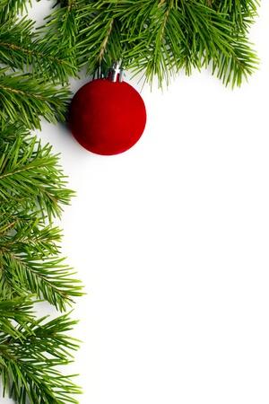 Christmas tree decoration isolated