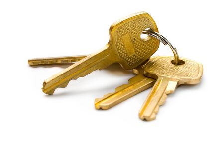 Keys isolated on white Stock Photo - 8561119