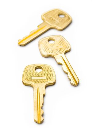 Keys isolated on white Stock Photo - 8561129