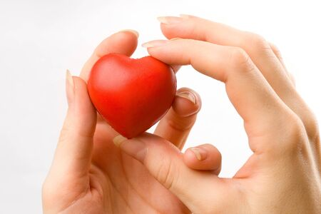 Female hands with red heart Stock Photo - 8561205