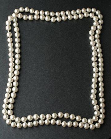 perlas: Pearl aislado en gris Foto de archivo