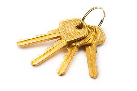 Keys isolated on white Stock Photo - 8973811