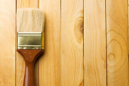 Brush isolated on wooden background Stock Photo - 8974009