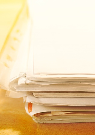 Stack of papers Stock Photo - 8986643