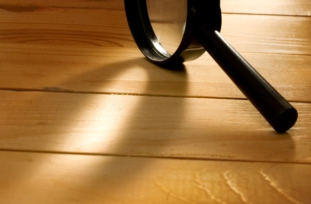 Magnifying glass isolated  photo