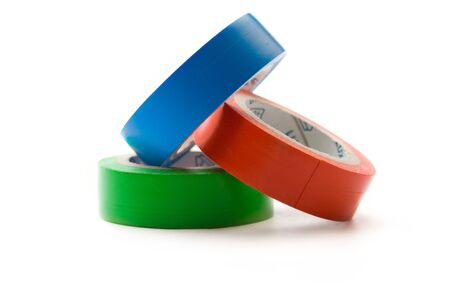 Adhesive tape isolated on white Stock Photo - 9092225