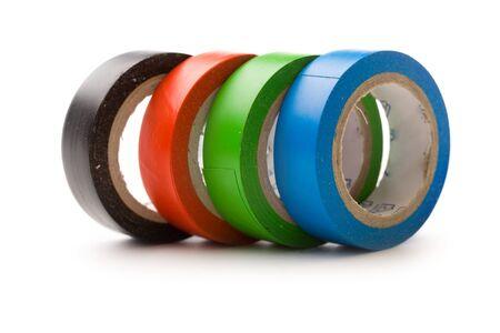 Adhesive tape isolated on white photo