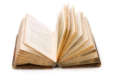 Libro isolato su sfondo bianco  Archivio Fotografico - 9092248