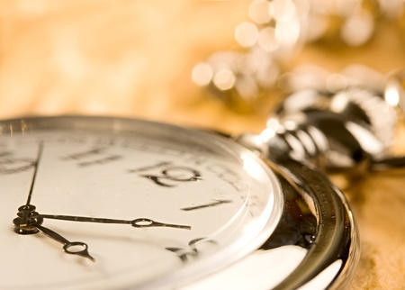 old watch: Pocket watch isolated Stock Photo