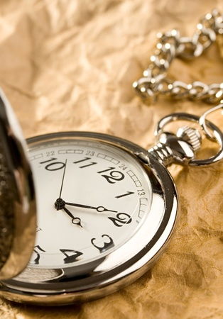 pocket watch: Pocket watch isolated Stock Photo