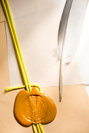 Envelope and feather photo