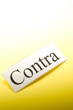 conception: Contra conception