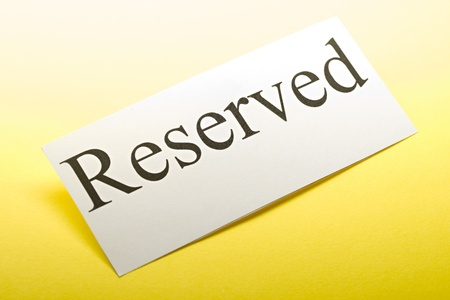Reserved sign Stock Photo - 9507297