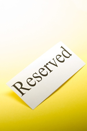 Reserved sign Stock Photo - 9507251
