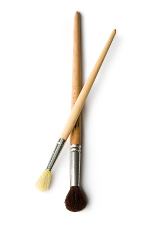 Paintbrushes isolated on white  photo