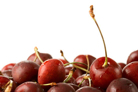 Cherries isolated on the white background photo